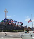 Veteran's Day observance at Mount Soledad. The memorial before the order to remove the cross.