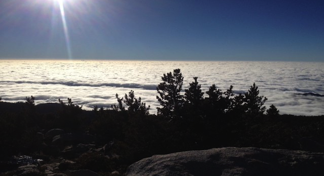 The final view of the hike from above the clouds. It took 10.5 hours, but it was worth it.