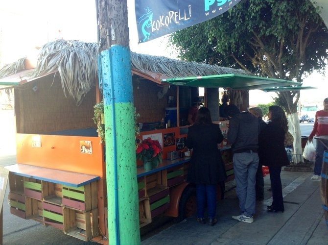 Under the palapa, taco treasure