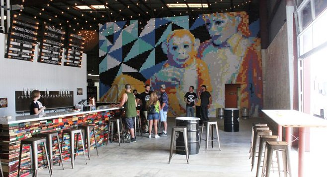 The front bar at Modern Times.