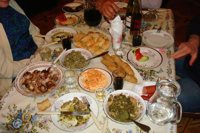 The spread at a traditional Georgian supra.