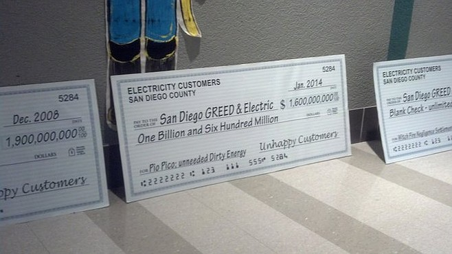 """Fake checks made out to """"San Diego GREED & Electric,"""" signed by """"unhappy customers"""""""