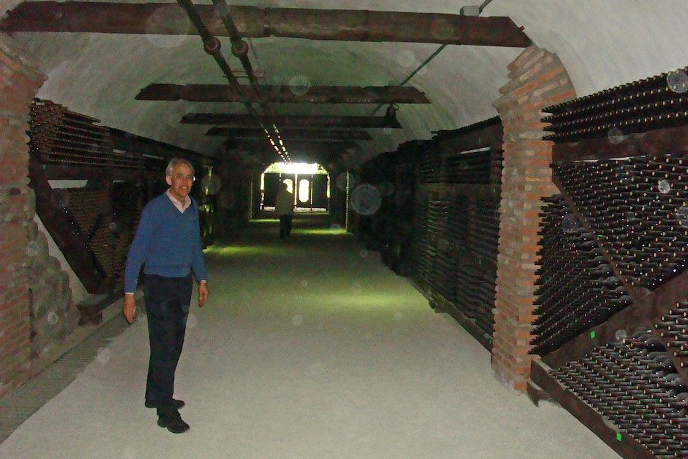 In the wine tunnel.