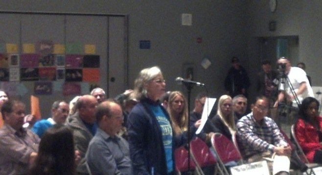 Joy Williams of the Environmental Health Coalition testified before EPA officials