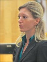 Prosecutor Laurie Hauf.  Photo by Eva