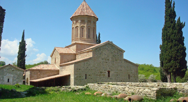 Ikalto, a sixth-century monastery in the country of Georgia.