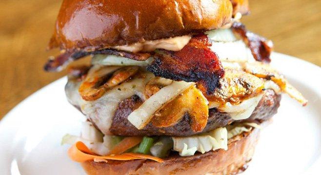 Slaters 50/50's new creation: the Sriracha burger