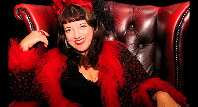 "Candye Kane's Christmas ditties? ""Santa Is a Swinger Now"" and ""Let's Put the X back in Christmas."""