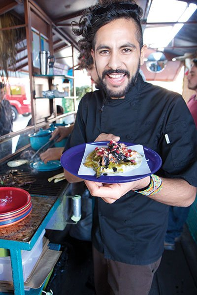 """Guillermo """"Oso"""" Campos Moreno, returned from a three-star restaurant in Holland to cook in Tijuana."""