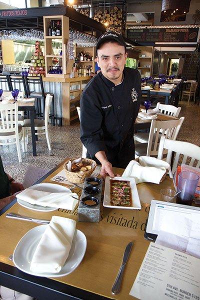 Chef Miguel Milland serves up the Baja Med at El Colegio.