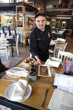 Chef Miguel Milland serves up the Baja Med at El Colegio.
