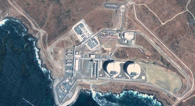 Sempra Energy's liquefied natural gas plant near Ensenada (Google Maps image)