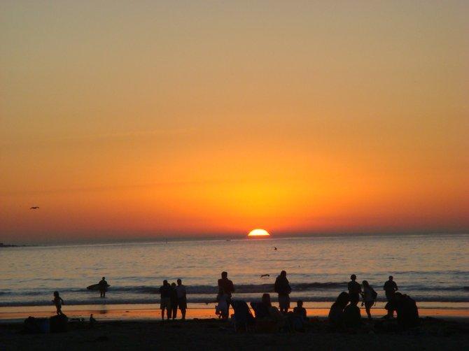 La Jolla Shores beach at sunset in November !