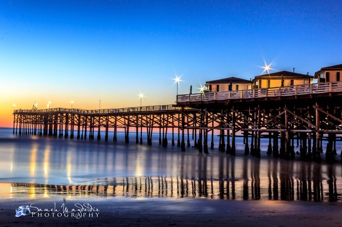 Taken at sunset moment in Crystal pier San Diego