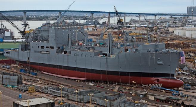 U.S. Navy ship at NASSCO