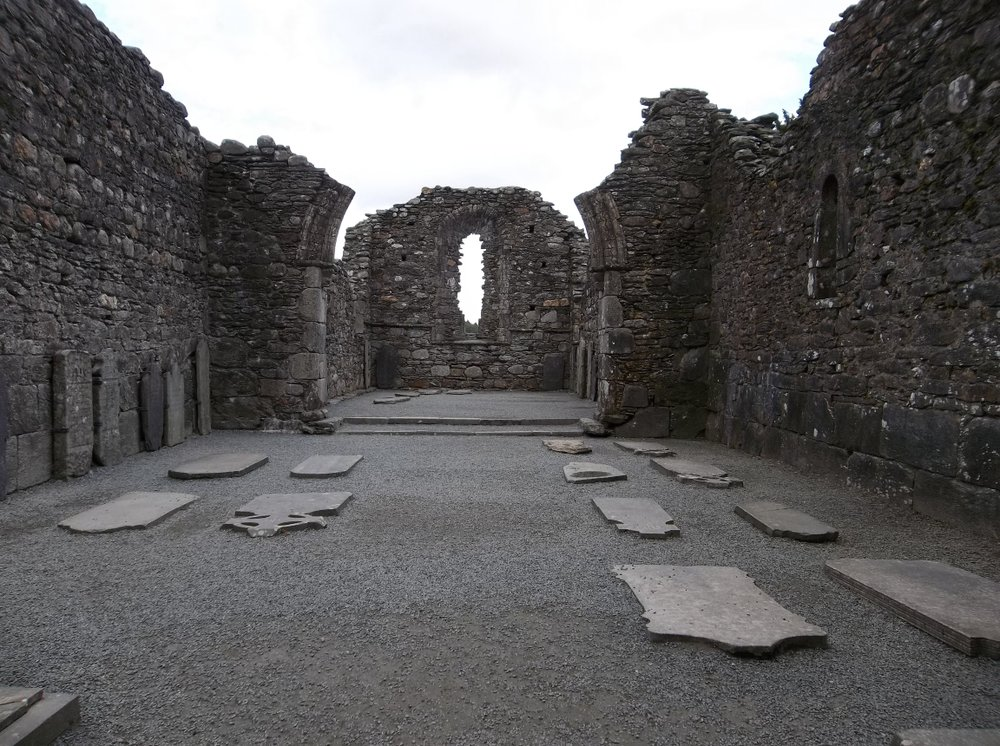 Ruins of Glendalough Cathedral.