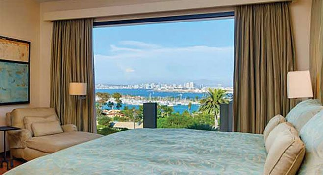Views of the bay, Shelter Island, Coronado, and downtown are afforded from nearly every window.