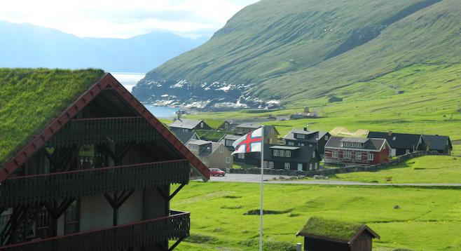 Stunning view from the Gjaargarður in Gjógv.
