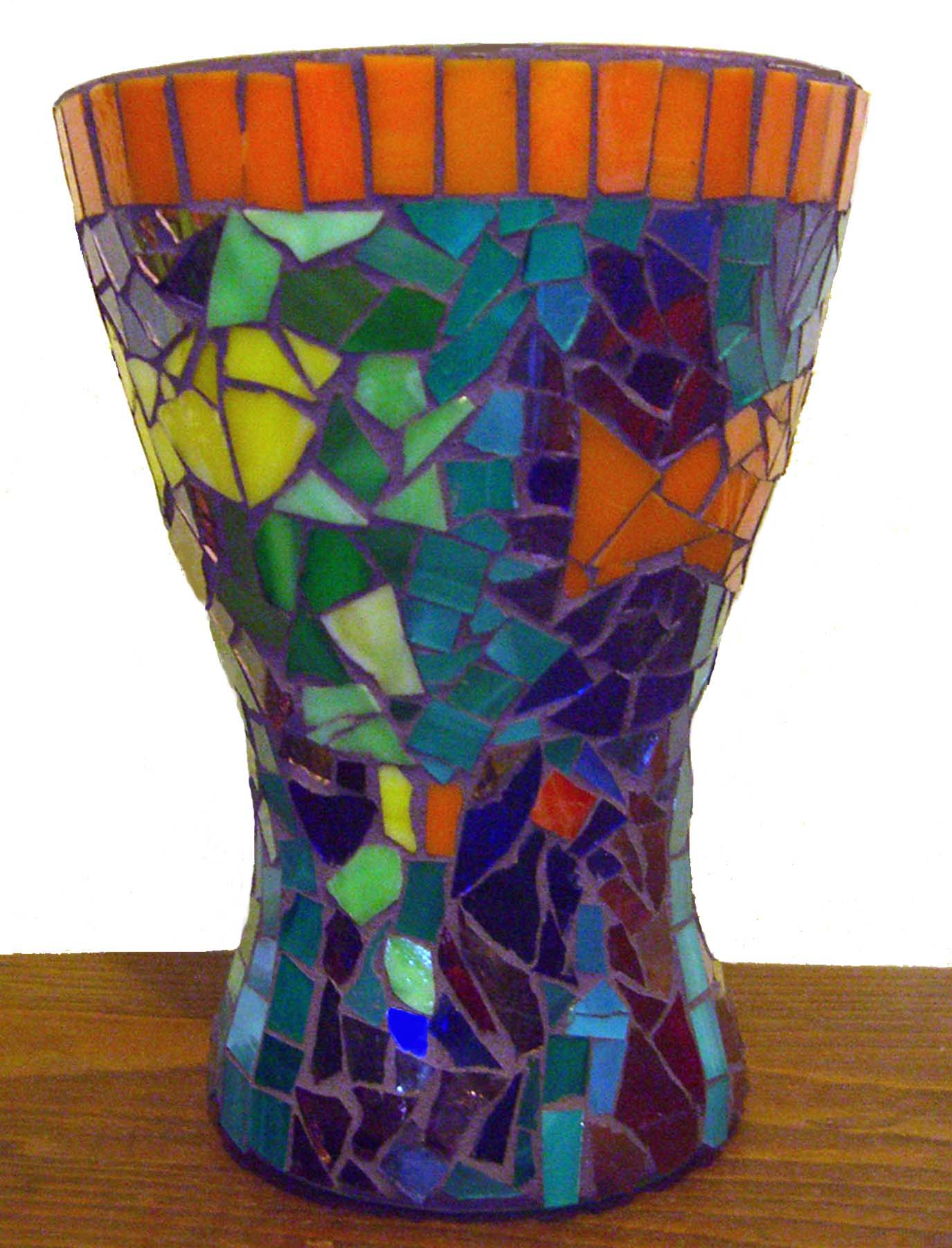 4 Fishes Glass on Glass mosaic