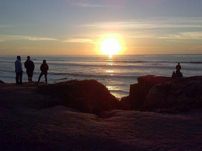 Dusk on New Year's Day Ocean Beach