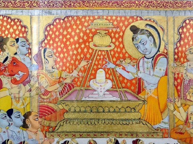 Fresco in Mehrangarh Fort.