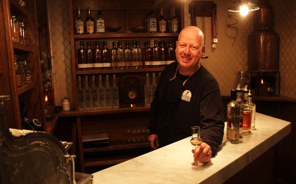 Ballast Point VP Earl Kight serves one up at the company's new spirits tasting room at its Scripps Ranch facility