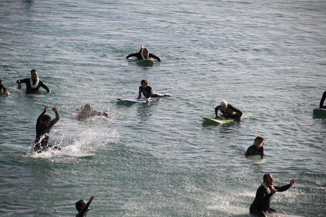 25 surfers join in a paddle out for the McStay family (Photo by Jackie Connor)