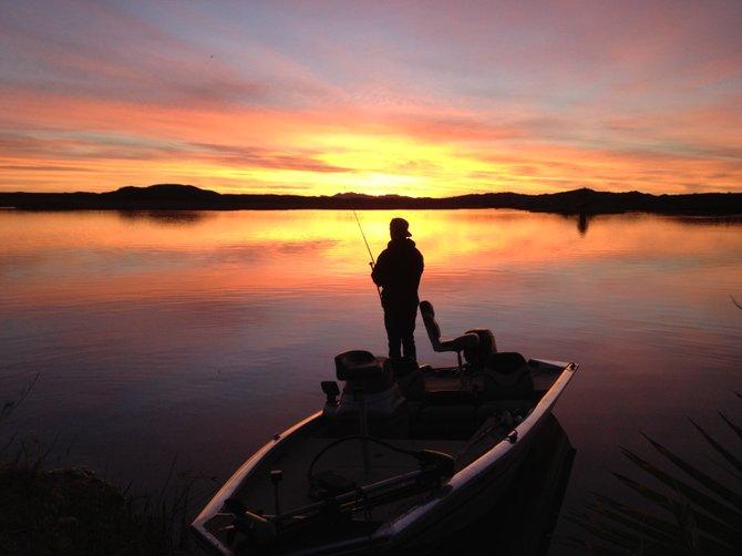 Sunrise at Squaw Lake. Lower Colorado River, California