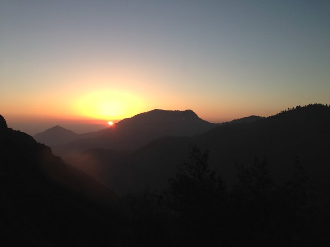 Sunset View at Sequoia National Park, CA.
