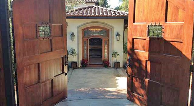 Double doors provide entry from the street.