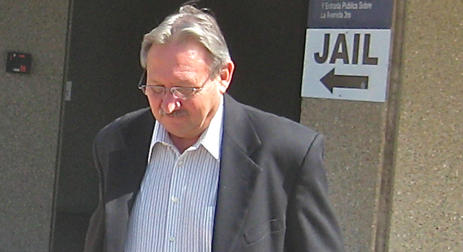 John Wilson leaving South Bay courthouse April 12, 2013