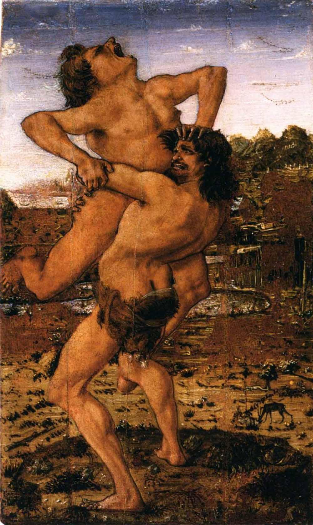 Hercules lifting Antaeus.