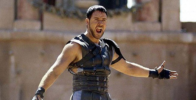 Russell Crowe in Gladiator.