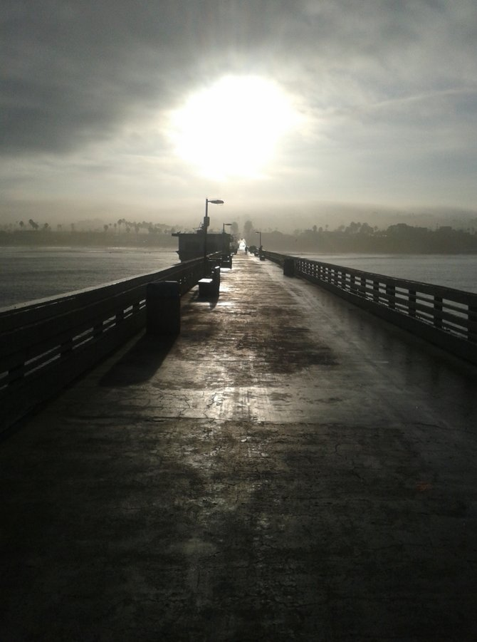 A morning walk on the Ocean Beach Pier