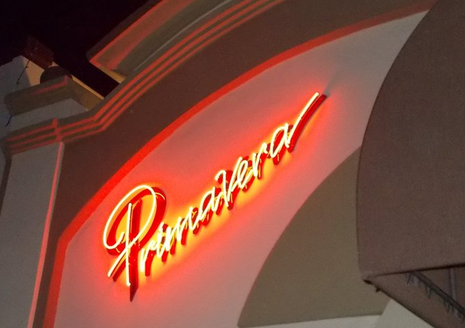 Neon sign outside