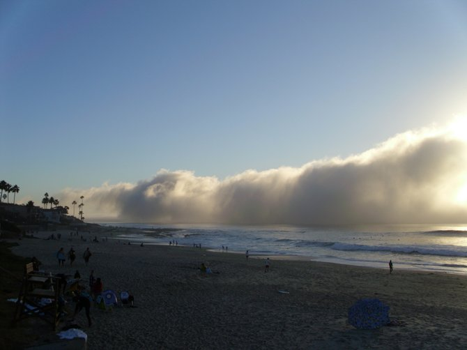 Taken at Pacific beach  with the marine layer forming: