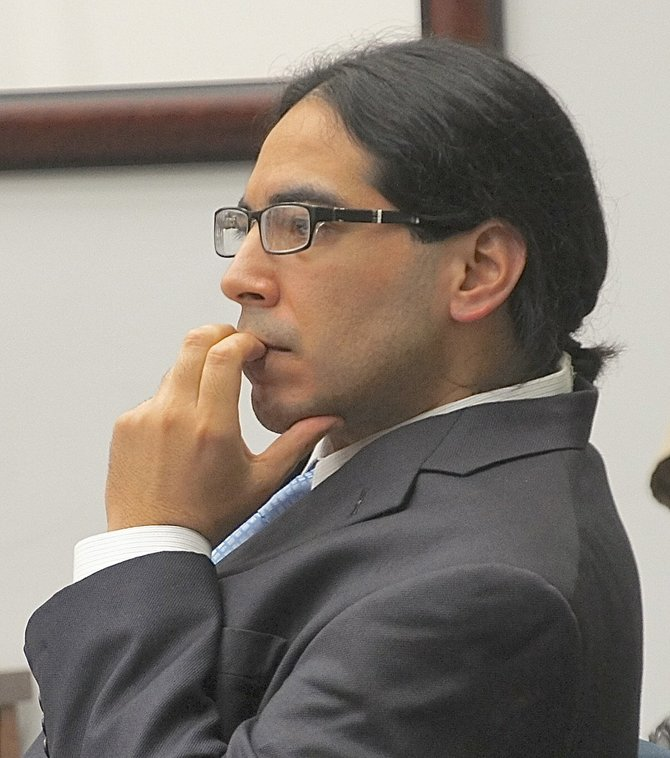Richard Murillo in court during the trial. Photo by Eva.