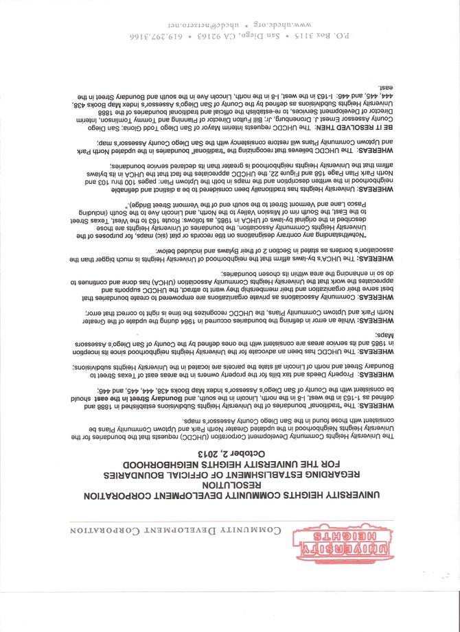 UHCDC Resolution