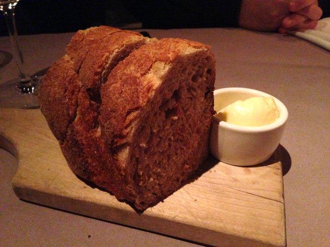 Rustic fresh bread