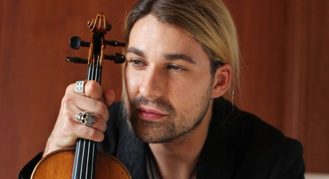Juilliard-trained David Garrett modeled for pin money.