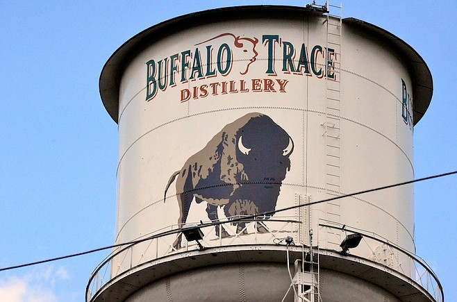 Water tower at the Buffalo Trace distillery.