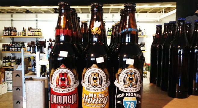 Belching Beaver Brewery's new bottled beers spotted at Bottlecraft in Little Italy