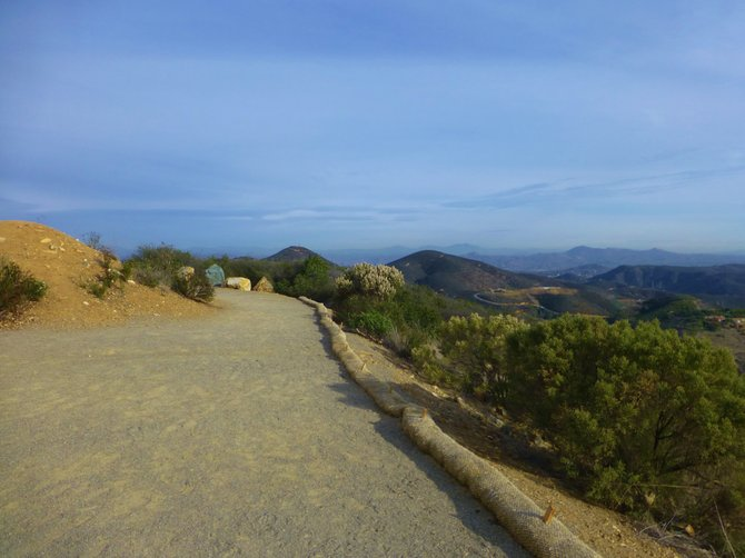 View from Double Peak Park in San Marcos.