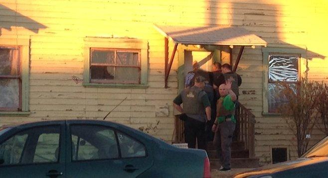 U.S. Marshals at the door