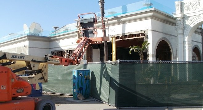 Recent construction at Belmont Park