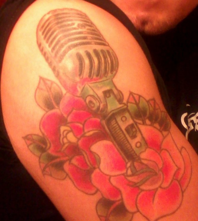 In honor of my Grand father, Robert Torrez who was a singer and was the first person to ever tell me I needed to learn to sing more with my stomach. God rest his soul. Best constructive criticism I ever received after sending him a cassette of my own songs. Art Done by Rafael Hernandez @Immortal Ink in Walla Walla, WA. Normal Heights. Age 28. Health Store Associate.