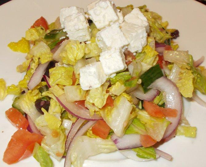 My chopped Greek salad