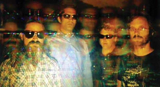SanFran psych-rock band Wooden Shjips bring it Back to Land at Soda Bar Saturday night.