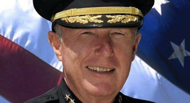 SDPD police chief William Lansdowne