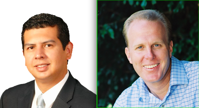 Mayoral candidates David Alvarez and Kevin Faulconer